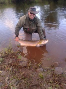 Largest salmon on the Usk for 62 years