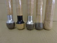 End caps:  photo shows various examples = Silver end cap + composite cork (Rubbercork).  Black end cap + Natural Cork.  Nickel Silver end cap + composite cork (Rubbercork).  Rounded end composite cork (Rubbercork).  And Rounded end in Natural Cork.